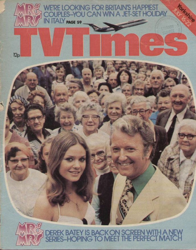 Scan of Front cover for TV Times dated: 28 May 1977