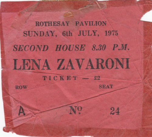 Rothesay Pavilion Ticket